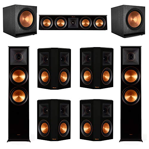 Lowest Price! Klipsch 7.2.2 Ebony Piano Black System-2 RP-8060FA,1 RP-404C,4 RP-502S,2 SPL-150