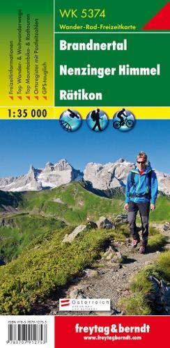 WK 5374 Brandnertal - Nenzinger Himmel - Rätikon, Wanderkarte 1:35.000, freytag & berndt Wander-Rad-Freizeitkarten
