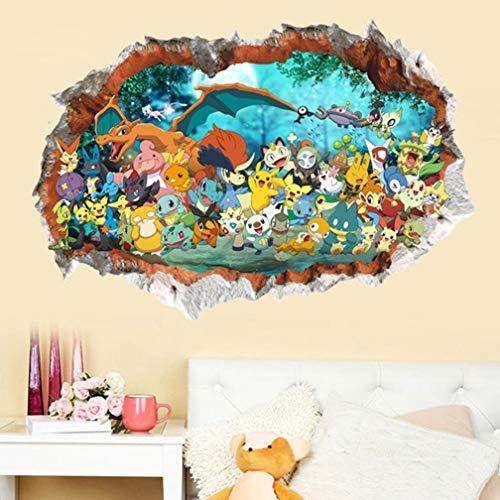 Pokemon Pikachu Muurstickers Muurschilderingen Behang 90x60cm
