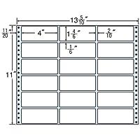東洋印刷 タックフォームラベル 13 5/10インチ ×11インチ 18面付(1ケース500折) MT13M