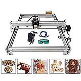 4YANG Machine de découpage en kit, graveur laser de bureau 12V USB Carver, zone de gravure 400X500mm, imprimante laser ajustable Découpage et découpe avec des lunettes (2500MW)