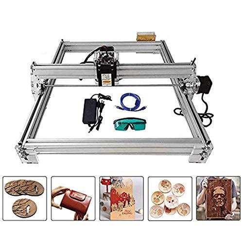 4YANG Carving Machine Kit, Desktop 12V USB Laser Engraver Carver, Area di incisione 400X500mm, Stampante laser regolabile Carving & Cutting with Goggles (2500MW)