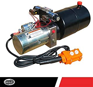 """MAXIM Hydraulic Power Unit (12V DC, Double Acting): 1.3 GPM Flow, 6 Qt. Steel Tank @2500 PSI #6 SAE Port Size and 3 Way 4 Position Solenoid Operated with HPU Dimensions: 22"""" L x 8.43"""" W x 10.3"""" H"""