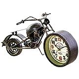 Nicololfle Retro Wecker,Uhr Motorrad,Motorrad Deko,Motorraduhr Im Retro-Stil Einzigartiger Motorrad-Sportwecker Für Motorrad Liebhaber(enthält Keine Batterien)