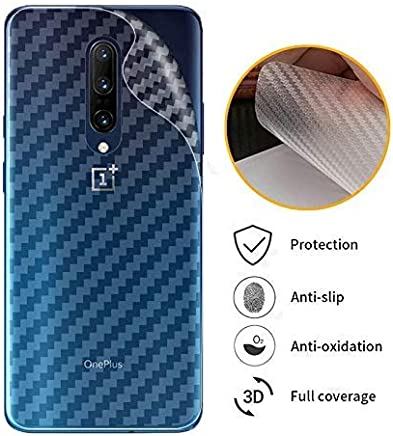 Valueactive Back Screen Protector Film Carbon Fiber Finish Ultra Thin Scratch Resistant Safety Protective Film for OnePlus 7 Pro (Transparent)