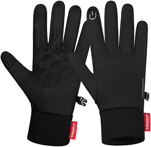 Anqier Winter Gloves Newest Windproof Warm Touchscreen Gloves Men Women For Cycling Running product image