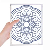 中国の青い花のパターン 硬質プラスチックルーズリーフノートノート