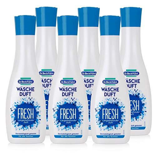Dr. Beckmann Wäscheduft Fresh, für frischen und langanhaltenden Duft, ohne Weichspüler und für alle Textilien geeignet, 6er Pack (6x 250 ml)