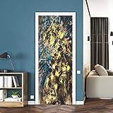 DFKJ Aufkleber Wandtür Schritt Tür Aufkleber mit Blick