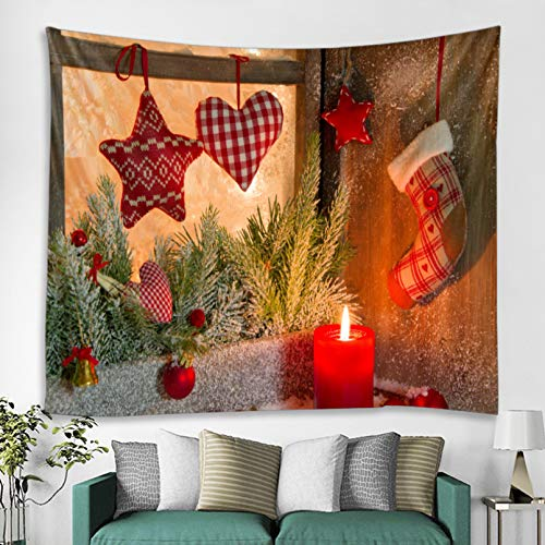 N/A Impresión 3D de tapices Tapiz de Pared para Colgar en la Pared, Estampado navideño, Dormitorio, Sala de Estar, decoración del hogar, tapices de Tela de poliéster Rectangular