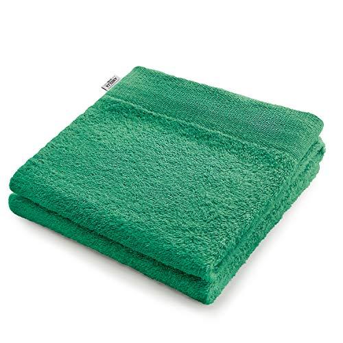AmeliaHome - Asciugamani per ospiti, 100% cotone, assorbenti, Amari, Cotone, verde, 30x50