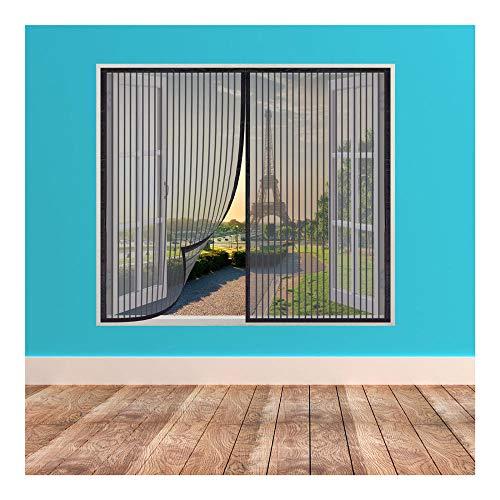 Mosquitera para Ventana,110x120cm Mosquitera Magnética para Ventana, Mosquitera para Puertas y Ventanas, Lavable, Prevenir Insectos y Mosquitos y Moscas