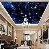3D Murales Papel Pintado Pared Calcomanías Decoraciones Techo De Mosaico Zenith Cielo Estrellado Cielo Paisaje Adecuado Salón Decoración Del Hogar Art º Chicas Cocina (W)400X(H)280Cm