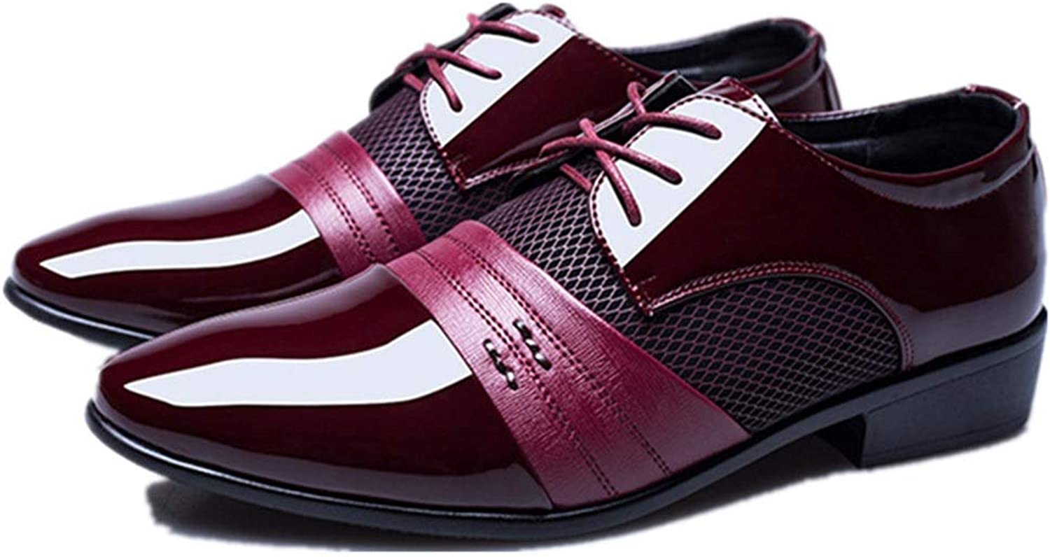 Men's Casual shoes Casual shoes Cricket shoes (color   Claret, Size   42)