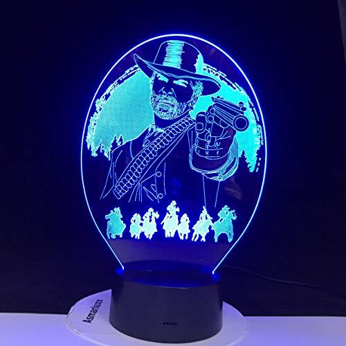 jiushixw 3D acryl nachtlampje met afstandsbediening kleur tafellamp spel accessoires sieraden druppel oranje tafellamp