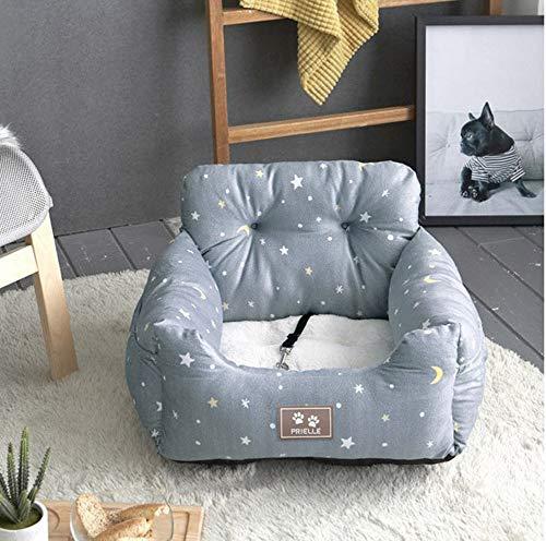 SMAA Hund Autositz, beweglicher Haustier Hund Booster Autositz, mit Clip-on Sicherheitsleine, 2 in 1 Auto-Sitzabdeckung für Haustiere mit Nonslip, Geeignet für Kleintiere,Star
