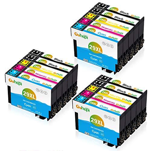 Gohepi 29 XL Remplacer pour Epson 29 29XL Cartouches d'encre, pour Epson Expression Home XP-255 XP-355 XP-455 XP-352 XP-247 XP 342 XP-345 XP-235 XP-435 XP-245 XP-445 XP-442 XP-332, 15 Paquets