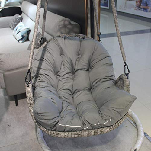 Cuscino per sedia a forma di uovo, smontabile, lavabile, in vimini, per sedie a dondolo, per sedie a dondolo, comodo e spesso, per patio, giardino, esterni, interni