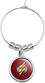 Justice League Movie Flash Logo Wine Glass Charm Drink Marker