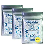 Aquatabs Blueahead NaDCC 100 x 8.5mg World's #1 Water Purification Treatment Tablets NaDCC Prepper Army Hiking 1 Tablet = 1-2 litres (3 Pack)