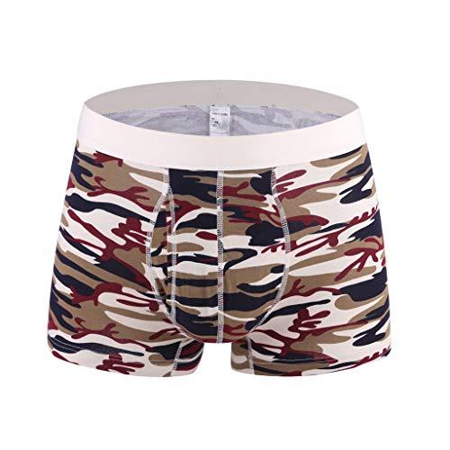 M-3XL Tarnung Boxershorts Herren 100% Baumwolle Unterwäsche Männer Underpants Unterhose Briefs Underwear Panties Unterhosen Retroshorts CICIYONER