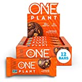ONE Plant Protein Bars, Chocolate Peanut Butter, Vegan, Gluten Free Protein Bars with 12g Protein & Only 1g Sugar, Guilt-Free Snacking for High Protein Diets, 1.59 Oz (12 Pack)