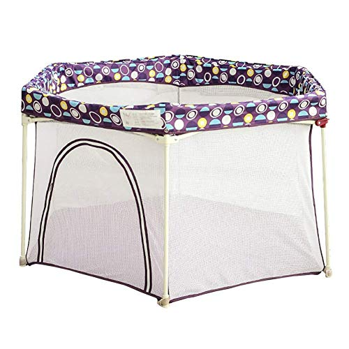 ZTMN Infant Kids Safety Playpen Baby Playpen, Foldable & Compact Indoor Baby Fence Safety Clôture (Color: Purple)