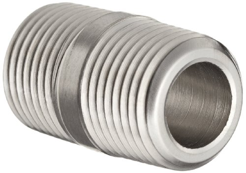 Parker - 2-2 MCN-SS Stainless Steel 316 Pipe Fitting, Close Nipple, 1/8' NPT Male, 1-1/16' Length