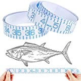2 Pieces Fish Ruler Sticker Adhesive Transparent Fish Ruler 39 x 1 Inch Fish Ruler Tapes Clear Measuring Sticker Tape for Fishing Boat Crafts Survey