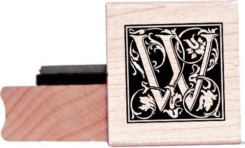 Tampon en caoutchouc alphabet - Lettre W à la William Morris