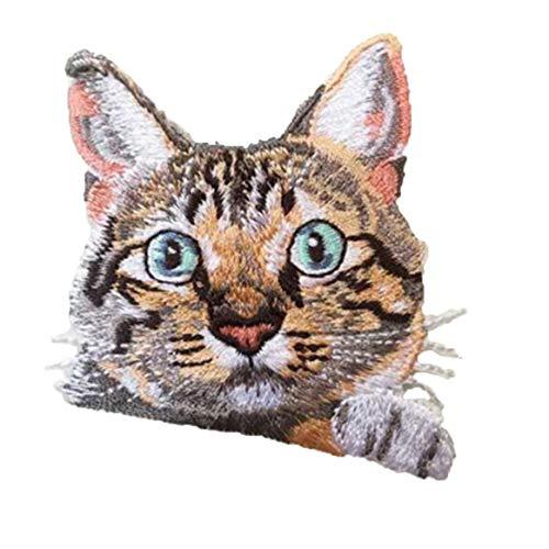 Parche De Bolsillo Apliques En Forma De Gato Animales Parche Bordado De La Insignia De Hierro Bordado Lindo En La Historieta De Parches Para La Ropa Etiqueta