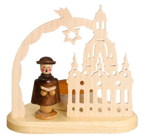 Volkskunstwerkstatt Unger Teelicht Frauenkirche mit Kurrende - Original Erzgebirge® #0422
