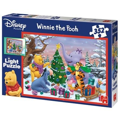 Jumbo Spiele 01880 - Disney Pooh Christmas Light Puzzle 352 Teile