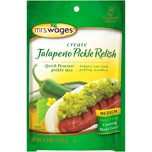 Mrs. Wages Medium Jalapeno Pickle Relish Quick Process Mix (VALUE PACK of 12)