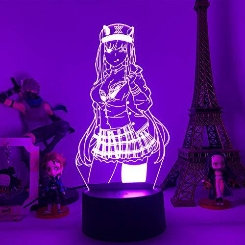Lámpara de noche 3D con diseño de anime Sailor Moon Tsukino Usagi para niños, dormitorio, decoración, manga, cumpleaños, regalo, juguete, escritorio, lámpara de mesa, 7 colores tocando