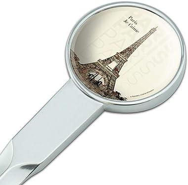 Paris, Je T'Aime I Love You Eiffel Tower City Map Classic Chrome Plated Metal Envelope Letter Opener Slitter