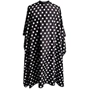 "SMARTHAIR Professional Salon Cape Polyester Baber Cape Hair Cutting Cape,54""x62"",Black and White Dots,C375001C"