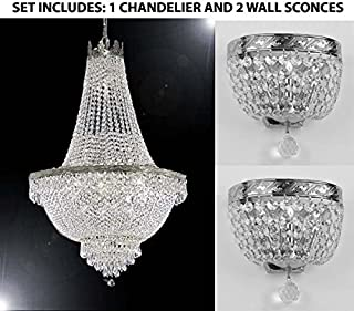Set of 3-1 French Empire Crystal Chandelier Lighting H30