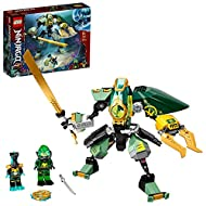 The LEGO NINJAGO underwater set features an action figure - a posable mech toy with a cockpit that opens for Lloyd to ride inside The mech toy has posable limbs, a large sword in one hand and a hydraulic, opening claw in the other for entering into u...