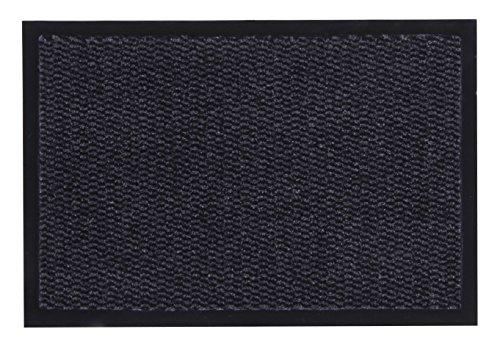 andiamo Schmutzfangmatte, Fußmatte aus Polypropylen – Indoor/Outdoor geeignet - in 40 x 60 cm Anthrazit – 5 mm Höhe