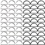 D Ring, 100 Pack Heavy Duty 1 inch Metal D Rings for Hardware Bags Ring Hand DIY Accessories Belts and Dog Leash Silver and Black