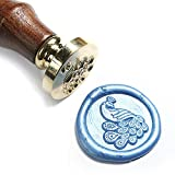 UNIQOOO Arts & Crafts Peacock Wax Seal Stamp-Great for Embellishment of Envelopes, Invitations, Wine Packages,...