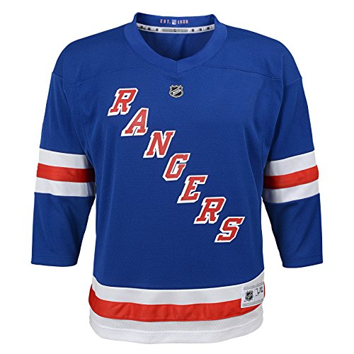 Outerstuff Youth NHL Replica Home-Team Jersey New York Rangers, Marathon Blue, Large (12-14)
