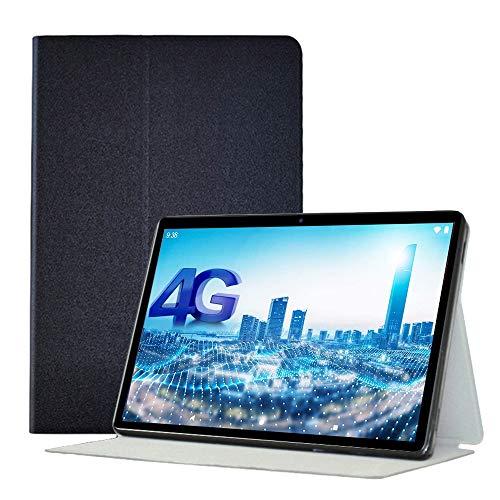 YGoal Hülle für Black-View Tab8, Premium PU Leder und TPU Back Case Leicht Folio Case Cover für Black-View Tab8 10 Zoll Tablet, Schwarz