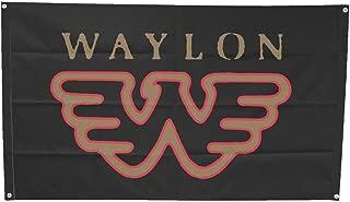 King's Road Waylon Jennings Flying W Fabric Poster Flag