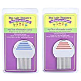 Lice Treatment Comb Stainless Steel Effectively Removes Louse and Nits Treats 2 Family Members with Head Lice