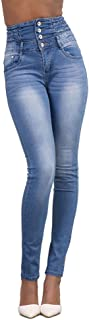 FENICAL High Waist Jeans Slim-fit Jeans Stretch Comfort igh Rise Skinny Jeans Pencil Pants Trousers for Women Ladies (Ligh...