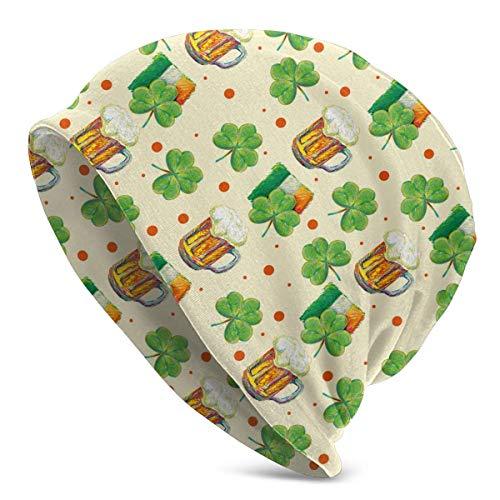 shenguang St. Patrick's Day Irisches Bier Muster Unisex einfarbige Mütze - Stretchy...
