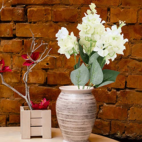 01 Plastic Hydrangea Flower, 5 Heads Decorative Hydrangea Flower Artificial Hydrangea, Hydrangea Bouquet Officenever Wilt for Conference Table Dining Room Table