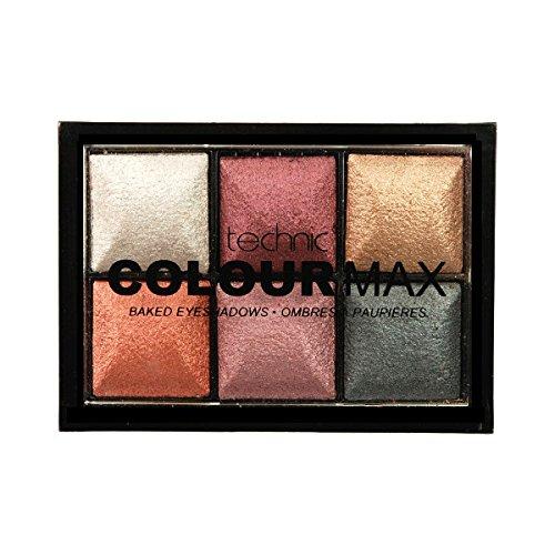 Número Technic Color Max 6 Paleta Sombra de Ojos, Color Baked 2 g - Paquete de...